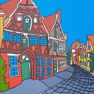 Lüneburg Altstadt 2021 - Kunst von Barrie Short