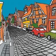 Lüneburg Altstadt Kunstbild von Barrie Short