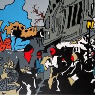 Lüneburg Bäckerstraße, Acrylic on canvas, 80cm x 60cm, 2015