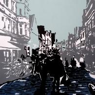 Lüneburg Bäckerstraße, Acrylic on canvas, 100cm x 70cm, 2016