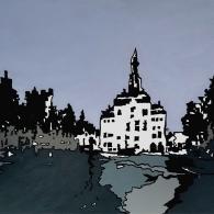 Lüneburg Marktplatz im Winter - Barrie Short Kunst