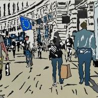 """""""London"""", acrylic on canvas, 80cm x60cm, 2021"""