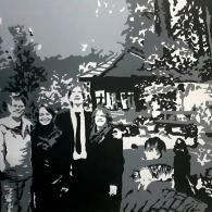 Family Portrait (Commission), Acrylic on canvas, 80cm x 60cm, 2018