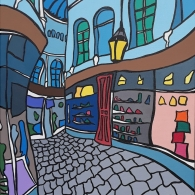 Painting of the Morgan Arcade in Cardiff - 2019
