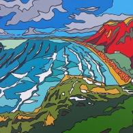 Painting of Rhossili Bay - 2019