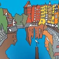 Lüneburg am Stint Kunst von Barrie Short