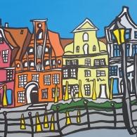 Am Stint Gemälde, Lüneburg - Kunst von Barrie Short