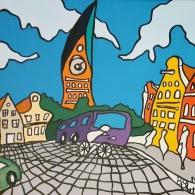 Lüneburg am Sande im Sommer - Kunst von Barrie Short