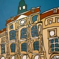 Lüneburg Rathaus im Winter - Kunst von Barrie Short