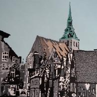 Auf dem Meere, Lüneburg, Acrylic on canvas, 80cm x 60cm, 2016