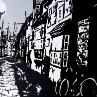 Lüneburg Altstadt, Acrylic on canvas, 100cm x 70cm, 2016
