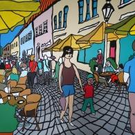 Die Schröderstraße in Lüneburg 2017 - Barrie Short Kunst